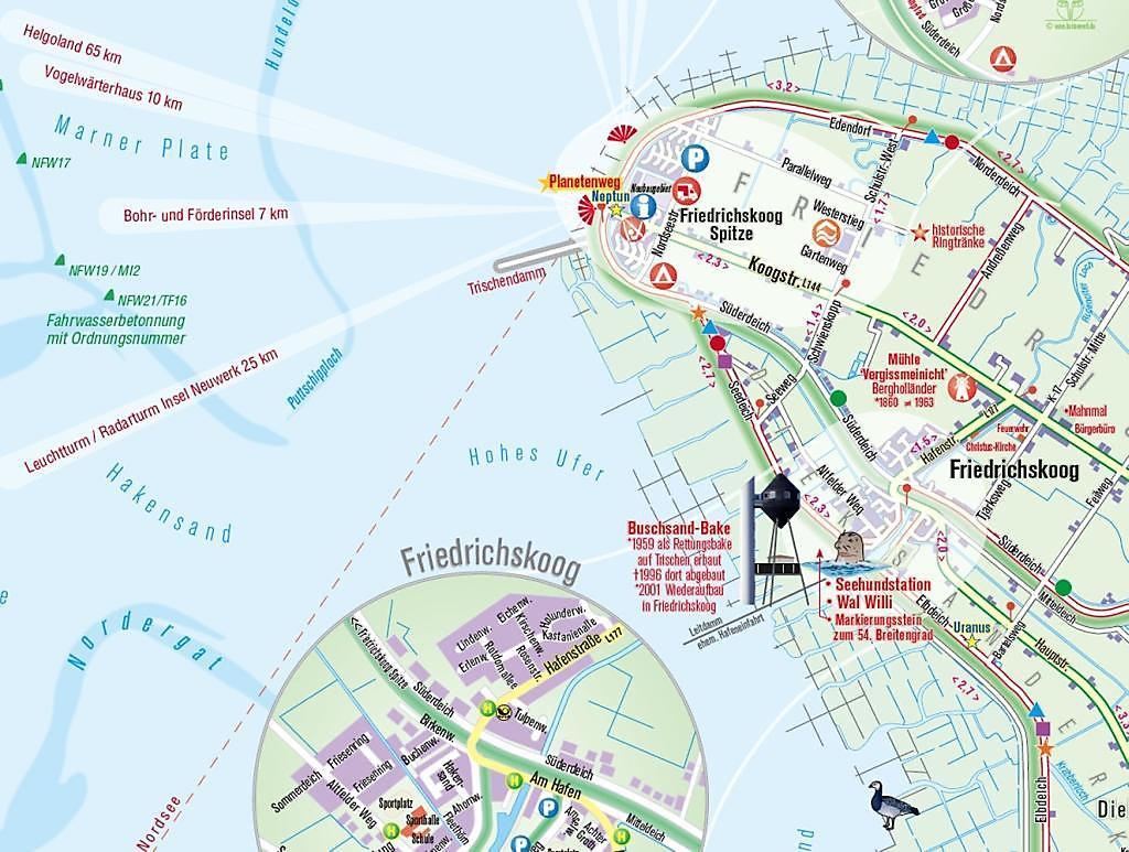 Kulturelle Landpartie Karte.Friedrichskoog Karte Reisefuhrer Buch Bestellen