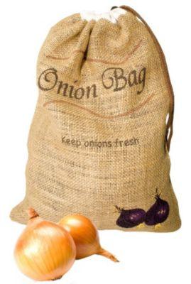 Frischhaltesack für Zwiebeln Jute 5kg
