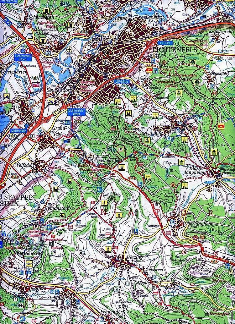 Landkarte Bad Staffelstein
