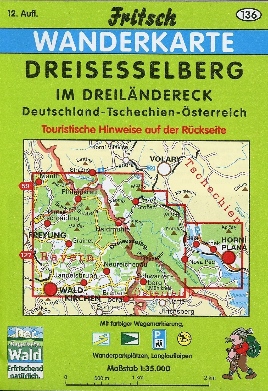 Karte Deutschland österreich.Fritsch Karte Dreisesselberg Im Dreiländereck Deutschland
