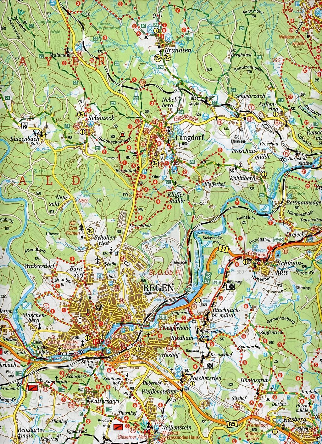 Nationalpark Bayerischer Wald Karte.Fritsch Karte Nationalpark Bayerischer Wald Nördlicher Teil