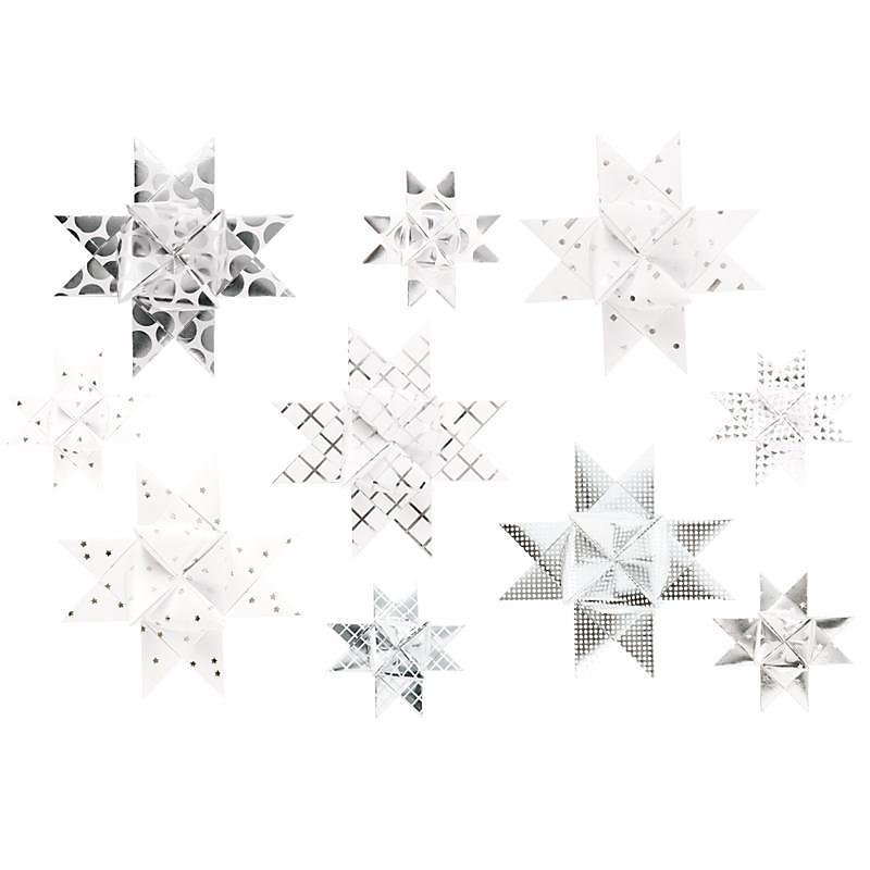Frobelsterne Graphic Weiss Silber Jetzt Bei Weltbild De Bestellen