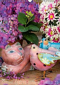 Fröhlich-bunte Gartendekos (Wandkalender 2019 DIN A3 hoch) - Produktdetailbild 4