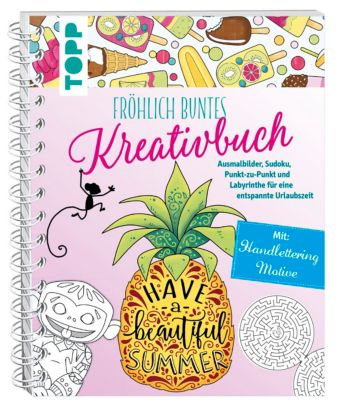 Fröhlich buntes Kreativbuch