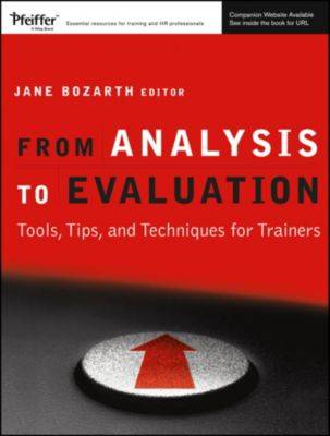 From Analysis to Evaluation, Jane Bozarth