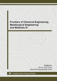 Frontiers of Chemical Engineering, Metallurgical Engineering and Materials III