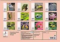 Froschig schön! Dekorative Könige der Tümpel und Teiche (Wandkalender 2019 DIN A2 quer) - Produktdetailbild 6