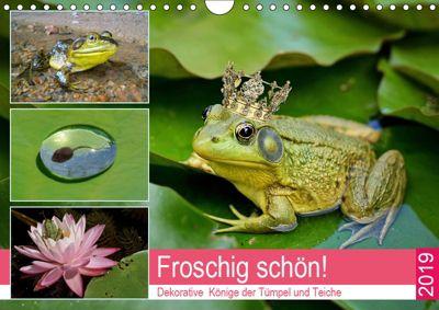 Froschig schön! Dekorative Könige der Tümpel und Teiche (Wandkalender 2019 DIN A4 quer), Rose Hurley