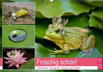 Froschig schön! Dekorative Könige der Tümpel und Teiche (Wandkalender 2019 DIN A2 quer), Rose Hurley