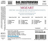 Frühe Salzburger Meistersinfonien - Produktdetailbild 1