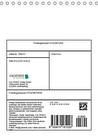 Frühlingsblumen Hyazinthen (Tischkalender 2019 DIN A5 hoch) - Produktdetailbild 13