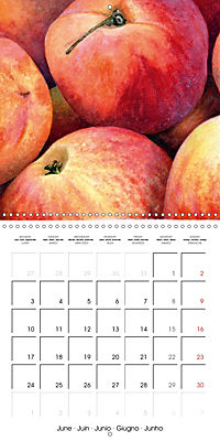 FRUITS SELECTED PAINTINGS BY YANNY PETTERS (Wall Calendar 2019 300 × 300 mm Square) - Produktdetailbild 6