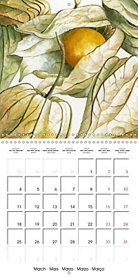 FRUITS SELECTED PAINTINGS BY YANNY PETTERS (Wall Calendar 2019 300 × 300 mm Square) - Produktdetailbild 3