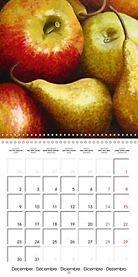 FRUITS SELECTED PAINTINGS BY YANNY PETTERS (Wall Calendar 2019 300 × 300 mm Square) - Produktdetailbild 12