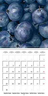 FRUITS SELECTED PAINTINGS BY YANNY PETTERS (Wall Calendar 2019 300 × 300 mm Square) - Produktdetailbild 9