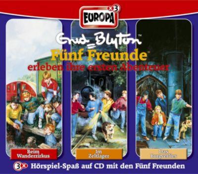 Fünf Freunde Band 1/2/3: 3er Box Fünf Freunde erleben ihre ersten Abenteuer (3 Audio-CDs), Enid Blyton