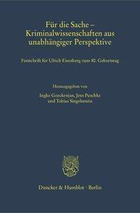 Für die Sache - Kriminalwissenschaften aus unabhängiger Perspektive. -  pdf epub