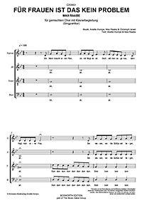 Für Frauen ist das kein Problem, Sing- und Klavierpartitur - Produktdetailbild 1
