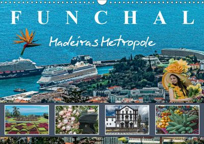 Funchal Madeiras Metropole (Wandkalender 2019 DIN A3 quer), Dieter Meyer