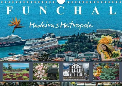 Funchal Madeiras Metropole (Wandkalender 2019 DIN A4 quer), Dieter Meyer