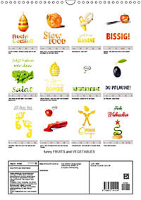funny FRUITS and VEGETABLES - lustiges Obst und Gemüse (Wandkalender 2019 DIN A3 hoch) - Produktdetailbild 13