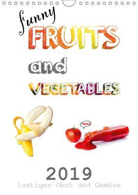 funny FRUITS and VEGETABLES - lustiges Obst und Gemüse (Wandkalender 2019 DIN A4 hoch), Daniel Boom