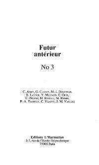 Futur anterieur no.3, Collectif