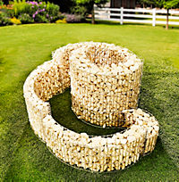 Gabionen Kräuterspirale 110 x 90 cm - Produktdetailbild 2