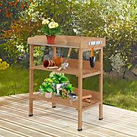 Gärtnertisch mit Metall-Arbeitsfläche - Produktdetailbild 1