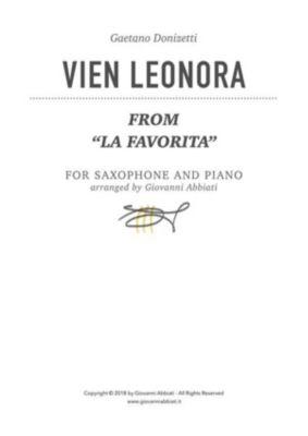 """Gaetano Donizetti Vien Leonora (from """"La favorita"""") for saxophone and piano, Giovanni Abbiati"""