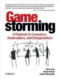 Gamestorming, Dave Gray, Sunni Brown, James Macanufo