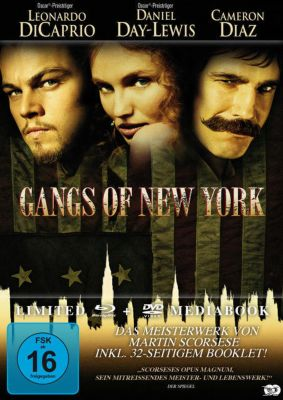 Gangs of New York Mediabook, Leonardo De Caprio, Cameron Diaz, Daniel Day-Lewis