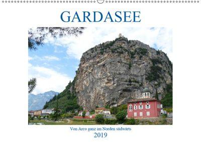GARDASEE Von Arco ganz im Norden südwärts (Wandkalender 2019 DIN A2 quer), Gisela Kruse
