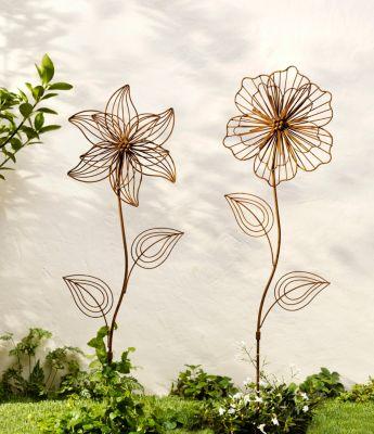 Gartenstecker Blume, 2er-Set