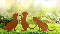 """Gartenstecker """"Katze"""", 3er-Set - Produktdetailbild 1"""