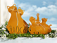 "Gartenstecker ""Katzenfamilie"", 2er-Set - Produktdetailbild 1"