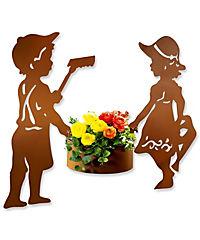 Gartenstecker mit Pflanztopf, 3-teiliges Set - Produktdetailbild 1