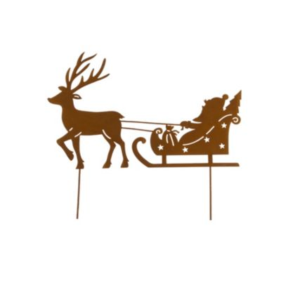 Gartenstecker Schlitten Santa