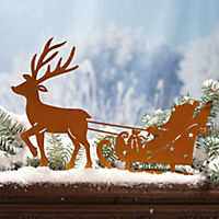 Gartenstecker Schlitten Santa - Produktdetailbild 1