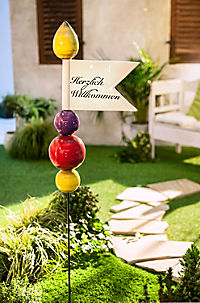 "Gartenstele ""Willkommen"" - Produktdetailbild 1"