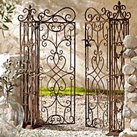 Gartentor Florenz, aus Metall,antik-braun,mit zwei Türen - Produktdetailbild 1