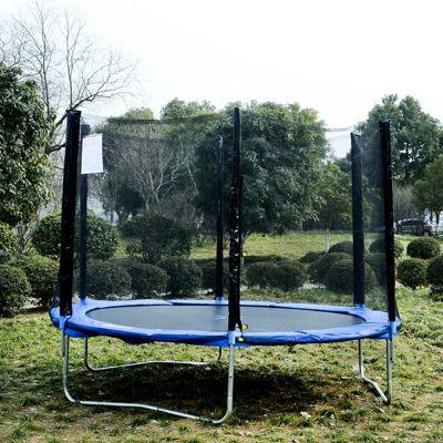 Gartentrampolin mit Sicherheitsnetz (Farbe: blau, schwarz, Größe: 244 cm (Ø))