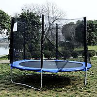 Gartentrampolin mit Sicherheitsnetz (Farbe: blau, schwarz, Größe: 244 cm (Ø)) - Produktdetailbild 2