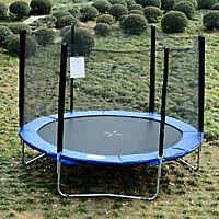 Gartentrampolin mit Sicherheitsnetz (Farbe: blau, schwarz, Größe: 244 cm (Ø)) - Produktdetailbild 1