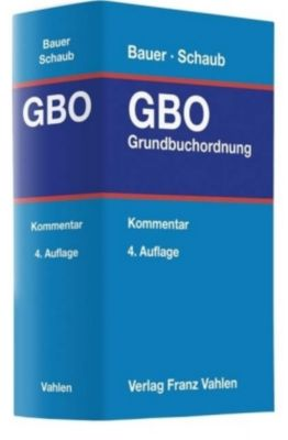 GBO, Grundbuchordnung, Kommentar