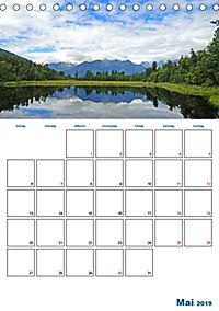 Geburtstagsplaner - Neuseelands Natur (Tischkalender 2019 DIN A5 hoch) - Produktdetailbild 5