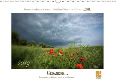 Gedanken... Bildkalender mit Sprüchen (Wandkalender 2019 DIN A3 quer), Martina Wrede