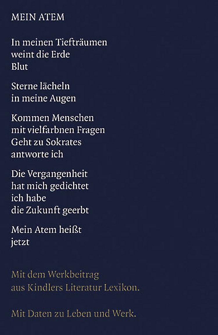 Gedichte Buch Von Rose Ausländer Versandkostenfrei Bestellen