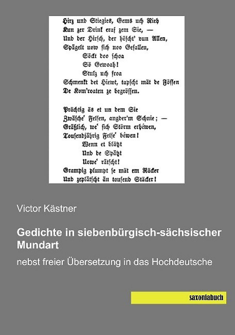 Gedichte In Siebenbürgisch Sächsischer Mundart Buch