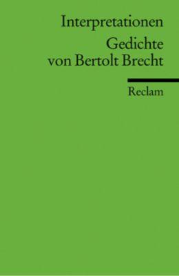 Gedichte von Bertolt Brecht, Bertolt Brecht